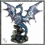 Blue Dragon Figurine Ornament Statue 20 cm